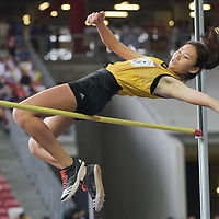 Raelene Quek (#195) of Victoria Junior College finished sixth with a final jump of 1.48m. (Photo © Stefanus Ian/Red Sports)