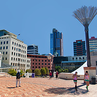 The Civic Square, completed in 1992, was the first civic space in Wellington.