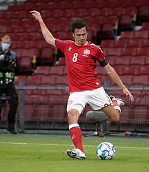 Thomas Delaney (Danmark) under UEFA Nations League kampen mellem Danmark og Belgien den 5. september 2020 i Parken, København (Foto: Claus Birch).