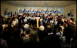 London Mayor Boris Johnson and The Prime Minister David Cameron  during rally in Orpington, London, during the Mayoral Campaign, London, UK, April 18, 2012. Photo By Andrew Parsons / i-Images.