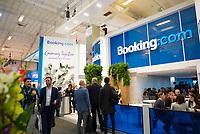 DEU, Deutschland, Germany, Berlin, 07.03.2019: Internationale Tourismus-Börse (ITB) auf dem Berliner Messegelände, Stand von Booking.com.