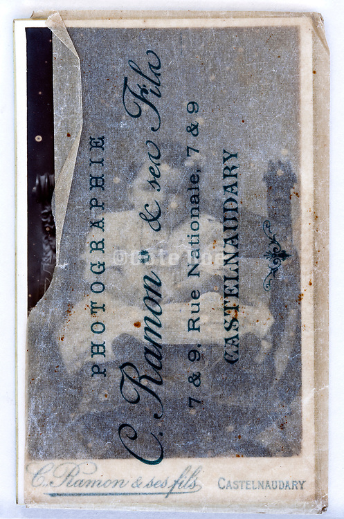 carte visite 1880s in protective sleeve