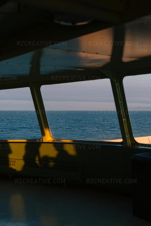 Ferry view crossing the Salish Sea. Photo © Robert Zaleski / rzcreative.com