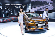 Audi automaker's new Q7 car is unveiled during Shanghai Motor Show, in Shanghai, China, on April 20, 2009. Shanghai auto show opened Monday for the press and will be open April 24-28 for the public. China is the only major auto market still growing despite the global economic slowdown. U.S. and global auto makers see China as the place where they can find the sales they desperately lack in their home market. Chinese automakers see the opportunity to assess themselves as major players in the world market. Photo by Lucas Schifres/Pictobank