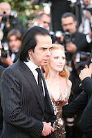 Nick Cave and Jessica Chastain attend the gala screening of Lawless at the 65th Cannes Film Festival. The screenplay for the film Lawless was written by Nick Cave and Directed by John Hillcoat. Saturday 19th May 2012 in Cannes Film Festival, France.