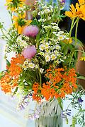Gorgeous bouquet. Svenskarnas Dag Swedish Heritage Day Minnehaha Park Minneapolis Minnesota USA