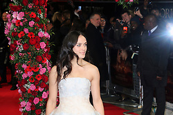 © Licensed to London News Pictures. 13/02/2014, UK. Jessica Brown Findlay, A New York Winter's Tale - UK film premiere, Odeon Kensington, London UK, 13 February 2014. Photo credit : Richard Goldschmidt/Piqtured/LNP