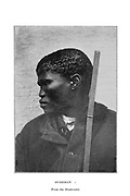 Portrait of a Bushman from the Breakwater From the book '  Specimens of Bushman folklore ' by Bleek, W. H. I. (Wilhelm Heinrich Immanuel), Lloyd, Lucy Catherine, Theal, George McCall, 1837-1919 Published in London by  G. Allen & Company, ltd. in 1911. The San peoples (also Saan), or Bushmen, are members of various Khoe, Tuu, or Kx'a-speaking indigenous hunter-gatherer groups that are the first nations of Southern Africa, and whose territories span Botswana, Namibia, Angola, Zambia, Zimbabwe, Lesotho and South Africa.