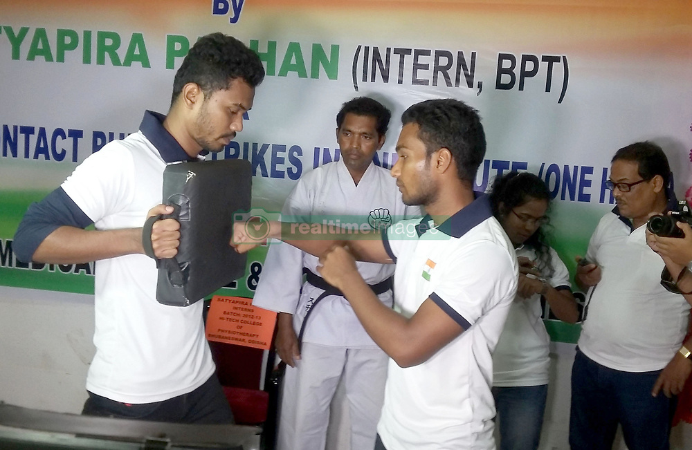 June 20, 2017 - Bhubaneswar, Odisha, India - Satyapir Pradhan of a tribal dominated district Bhawanipatna today made an entry into the prestigious Guinness Book of Records in the eastern Indian state Odisha's capital city Bhubaneswar after scored 393 punches in one min breaking the 377 punches record of Pakistan's Mohammad Rashidon Tuesday, 20 June 2017. (Credit Image: © Str/NurPhoto via ZUMA Press)