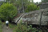 Gierloz, k/Ketrzyna, woj warminsko-mazurskie N/z Wilczy Szaniec ( Wolfsschanze ) w latach 1941–1944 kwatera glowna Hitlera ( Fuhrerhauptquartier ) i Naczelnego Dowodztwa Sił Zbrojnych ( Oberkommando der Wehrmacht ). Obecnie zespol bunkrow udostepiony jest do zwiedzania *** The Wolf's Lair was Adolf Hitler's first Eastern Front military headquarters in World War II. The complex, which became one of several Fuhrerhauptquartiere (Fuhrer Headquarters) in various parts of Central and Eastern Europe, was built for the start of Operation Barbarossa—the invasion of the Soviet Union—in 1941. It was constructed by Organisation Todt *** fot Michal Kosc / AGENCJA WSCHOD