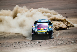 Sebastien Loeb (FRA) of PH Sport races during stage 4 of Rally Dakar 2019 from Arequipa to Tacna, Peru on January 10, 2019. // Flavien Duhamel/Red Bull Content Pool // AP-1Y3A5Z9912111 // Usage for editorial use only // Please go to www.redbullcontentpool.com for further information. //