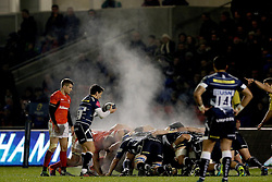 Steam rises off the scrum during the European Champions Cup, pool three mach at the AJ Bell Stadium, Salford. PRESS ASSOCIATION Photo. Picture date: Sunday December 18, 2016. See PA story RUGBYU Sale. Photo credit should read: Richard Sellers/PA Wire