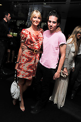 RICHARD DENNEN and LADY EMILY COMPTON at a party to launch the Gucci designed Fiat 500 customized by Gucci Creative Director Frida Giannini in collaboration with FIAT's Centro Stile, held at Fiat, 105 Wigmore Street, London on 27th June 2011.