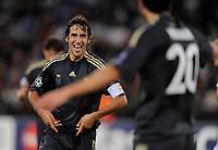 Jubel bei Reals Raul Gonzalez nach dem Tor zum 2:0 © Maria Schmid/EQ Images