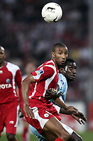 Fotball<br /> Frankrike<br /> Foto: Dppi/Digitalsport<br /> NORWAY ONLY<br /> <br /> FOOTBALL - FRENCH CHAMPIONSHIP 2006/2007 - LEAGUE 1 - VALENCIENNES v OLYMPIQUE MARSEILLE - 14/04/2007 - ABDESLAM OUADDOU (VAL) / MAMADOU NIANG (OM)