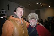 Mark Hammond and Richard Niman, TWO LEGS BAD, FOUR LEGS GOOD, Jake & Dinos Chapman. PARADISE ROW, 17 Hereford Street. London E2 . 9 February 2007.  -DO NOT ARCHIVE-© Copyright Photograph by Dafydd Jones. 248 Clapham Rd. London SW9 0PZ. Tel 0207 820 0771. www.dafjones.com.