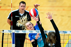 Iris Reinders of Zwolle in action during the first league match between Djopzz Regio Zwolle Volleybal - Laudame Financials VCN on February 27, 2021 in Zwolle.