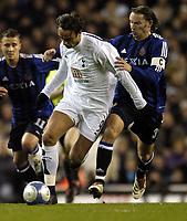 Photo: Olly Greenwood.<br />Tottenham Hotspur v Club Brugge. UEFA Cup. 02/11/2006. Spurs Dimitar Berbatov and Club Brugges's Jeanvion Yulu-Mantando