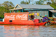 Floating fishing village, Tonle Sap Lake, Cambodia, asia, fisherman