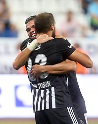 August 18, 2017 - °Stanbul, Türkiye - Pepe and Cenk Tosun from Besiktas celebrates their goal during Kasimpasa - Besiktas Turkish Super League Game at Istanbul, 19th August, 2017. (Credit Image: © Tolga Adanali/Depo Photos via ZUMA Wire)