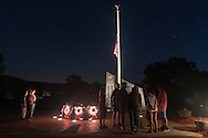 Washingtonville, New York - The annual remembrance ceremony was held at the Washingtonville 5 Firefighters World Trade Center Memorial  on Sept 11, 2015.