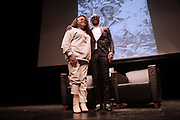 HARLEM, NEW YORK-DECEMBER 9: (L-R) Lisa Price, Founder, Carol's Daughter and Designer/Fashion Icon Daniel 'Dapper Dan' Day attend the Heritage Series held at the Schomburg Center, a part of the New York Public Library on December 9, 2019 in Harlem, New York City.   (Photo by Terrence Jennings/terrencejennings.com)