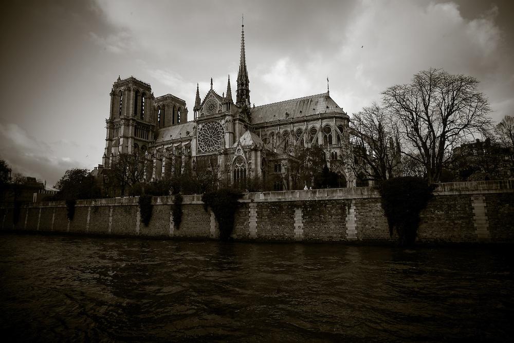 Notre Dame as seen from the Left Bank of the River Seine. Paris, France. December 1, 2013. Photograph ©2013 Darren Carroll