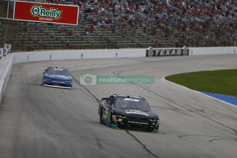 November 3, 2018 - Ft. Worth, Texas, United States of America - Joey Gase (35) battles for position during the O'Reilly Auto Parts Challenge at Texas Motor Speedway in Ft. Worth, Texas. (Credit Image: © Justin R. Noe Asp Inc/ASP via ZUMA Wire)