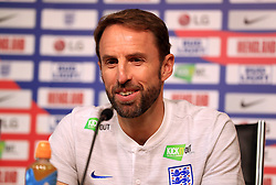 England manager Gareth Southgate during a press conference at The King Power Stadium, Leicester.