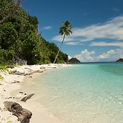 Beautiful white sandy tropical beach.