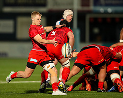Aled Davies of Saracens box kicks - Mandatory by-line: Nick Browning/JMP - 26/02/2021 - RUGBY - Butts Park Arena - Coventry, England - Coventry Rugby v Saracens - Friendly