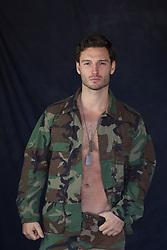 Hot Army man in an open shirt