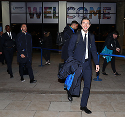 The Italy team arrive at Manchester Airport on Thursday night forTheir friendly with Argentina on Friday night…… Matteo Darmian.