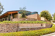 Stacked Stone Hardscape at Mission Viejo Library