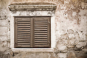 Shuttered window and wall, Skradin, Dalmatia, Croatia