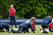 Picture by Andrew Tobin/Focus Images Ltd +44 7710 761829.24/05/2013.England head coach Stuart Lancaster looks on during the England training session at Pennyhill Park, Bagshot ahead of the match against the Barbarians on 26th May 2013.