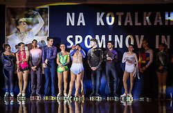 Lucija Mlinaric with friends during special artistic roller skating event when Lucija Mlinaric of Slovenia, World and European Champion ended her successful sports career, on November 7, 2015 in Rence, Slovenia. Photo by Vid Ponikvar / Sportida