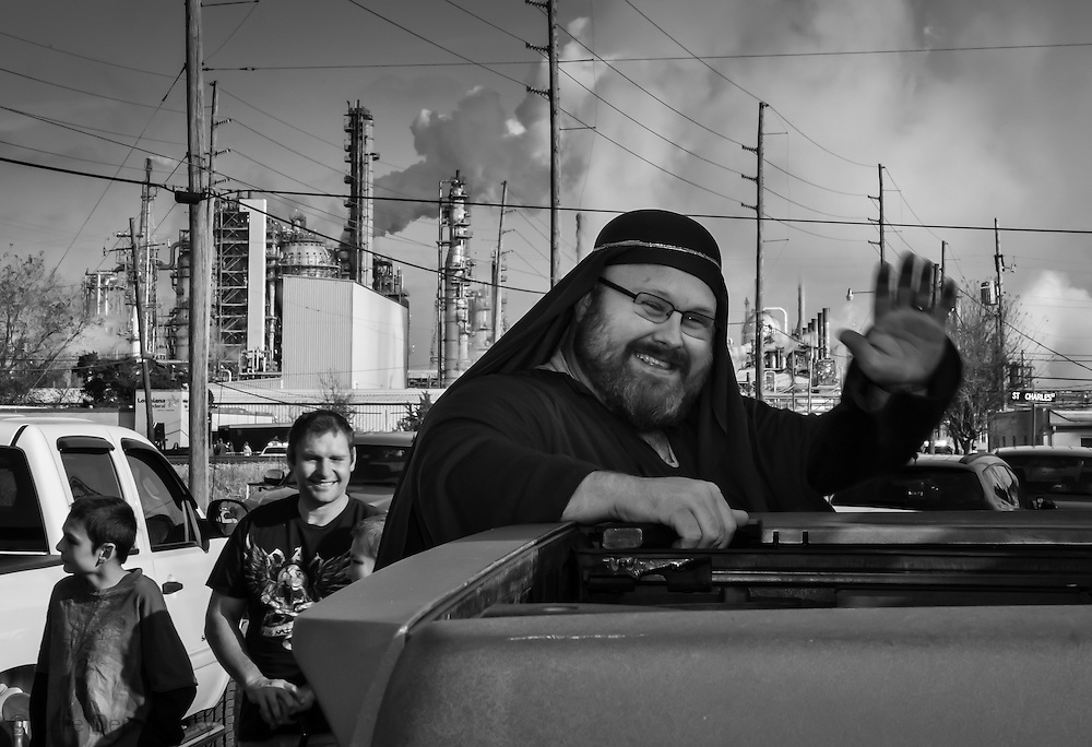 Norco's annual Christmas parade passed by Shell's Norco refinery.