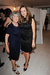 Left to right, JOAN BURSTEIN and LUCY YEOMANS at a dinner hosted by Harper's Bazaar to celebrate Browns 40th Anniversary in aid of Women International held at The Regent Penthouses & Lofts, 16-18 Marshall Street, London on 20th May 2010.