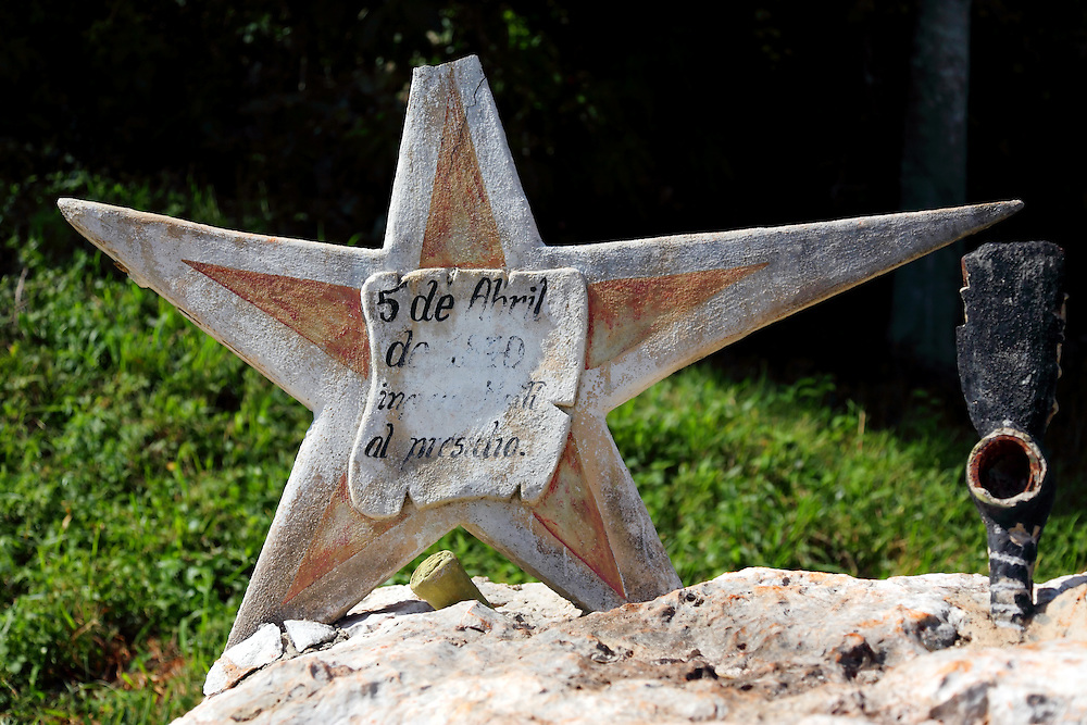 Jose Marti monument near San Miguel de los Banos, Matanzas, Cuba.
