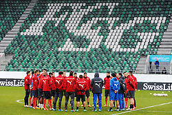 04.03.2014, AFG Arena, St. Gallen, SUI, Training der Schweizer Nationalmannschaft, vor dem Testspiel gegen Kroatien, im Bild Die Nationalmannschaft trainiert, der AFG Arena // during a practice session of swiss national football team prior to the international frindley against Croatia at the AFG Arena in St. Gallen, Switzerland on 2014/03/04. EXPA Pictures © 2014, PhotoCredit: EXPA/ Freshfocus/ Andy Mueller<br /> <br /> *****ATTENTION - for AUT, SLO, CRO, SRB, BIH, MAZ only*****