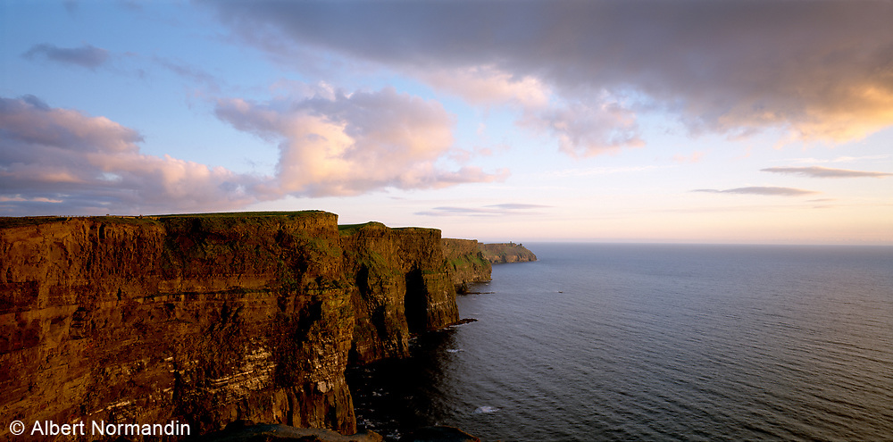 The Cliffs of Moher orange sunset light