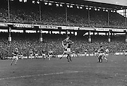 Players jump for the ball during the All Ireland Senior Hurling Final Cork v Wexford at Croke Park on the 4th of September 1977.