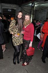 Left to right, FRANCESCA LOWE and MARIE VARI at the Contemporary Art Society's Gala evening held at the Farmiloe Buildings, St.John Street, London EC1 on 29th February 2012.