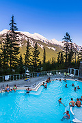 The pool at Sulphur Moutain Hot Springs, Banff National Park, Alberta, Canada
