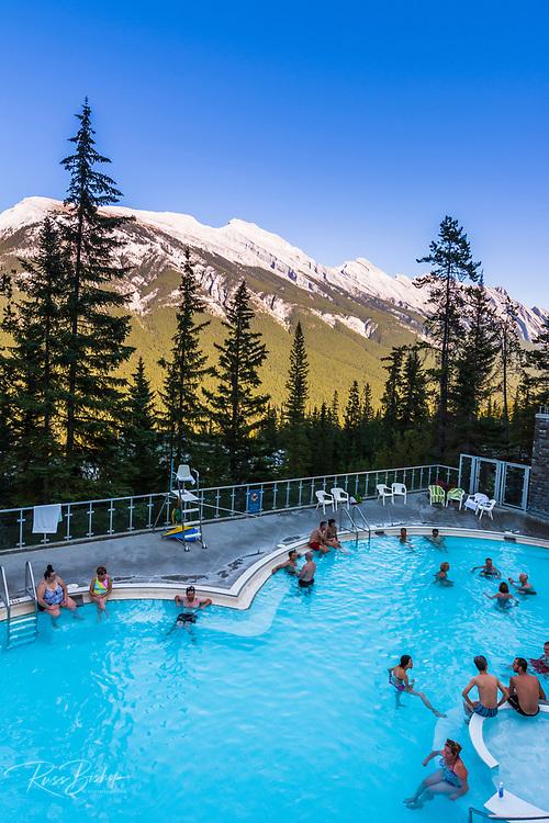 The pool at Sulphur Moutain Hot Springs, Banff National Park, Alberta, Canada