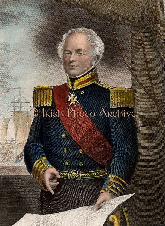 James Whitley Deans Dundas (1785-1862) British naval commander.  Entered the Royal Navy in 1799. Appointed Vice-Admiral and Commander-in-Chief of the Mediterranean Fleet (1852-1855). Admiral 1857. Copperplate engraving c1860.