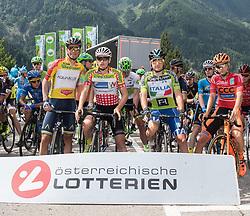 08.07.2017, Wels, AUT, Ö-Tour, Österreich Radrundfahrt 2017, 6. Etappe von St. Johann/Alpendorf nach Wels (203,9 km), im Bild v.l. Stefan Denifl (AUT, Team Aqua Blue Sport), Stephan Rabitsch (AUT, Team Felbermayr Simplon Wels), Ella Viviani (ITA, Nationale Italiana), Felix Grossschartner (AUT, Team CCC Sprandi Polkowice) // f.l. Stefan Denifl of Austria (Aqua Blue Sport) Stephan Rabitsch of Austria (Team Felbermayr Simplon Wels) Stephan Rabitsch of Austria (Team Felbermayr Simplon Wels) Felix Grossschartner of Austria (CCC Sprandi Polkowice) during the 6th stage from St. Johann/Alpendorf to Wels (203,9 km) of 2017 Tour of Austria. Wels, Austria on 2017/07/08. EXPA Pictures © 2017, PhotoCredit: EXPA/ Reinhard Eisenbauer