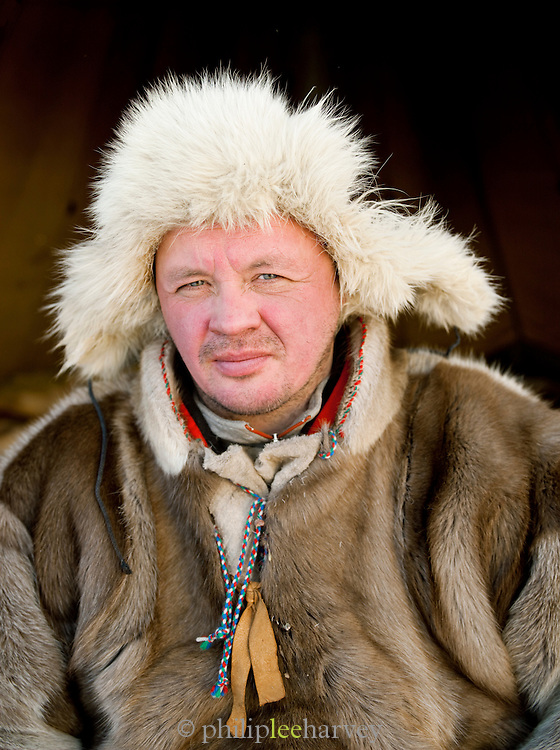 Nils Mikkel, a Sami reindeer herder in Karasjok, Finnmark region, northern Norway