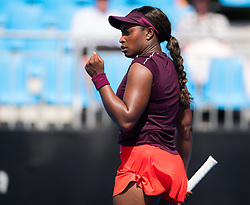 January 8, 2019 - Sidney, AUSTRALIA - Sloane Stephens of the United States in action during the first round of the 2019 Sydney International WTA Premier tennis tournament (Credit Image: © AFP7 via ZUMA Wire)